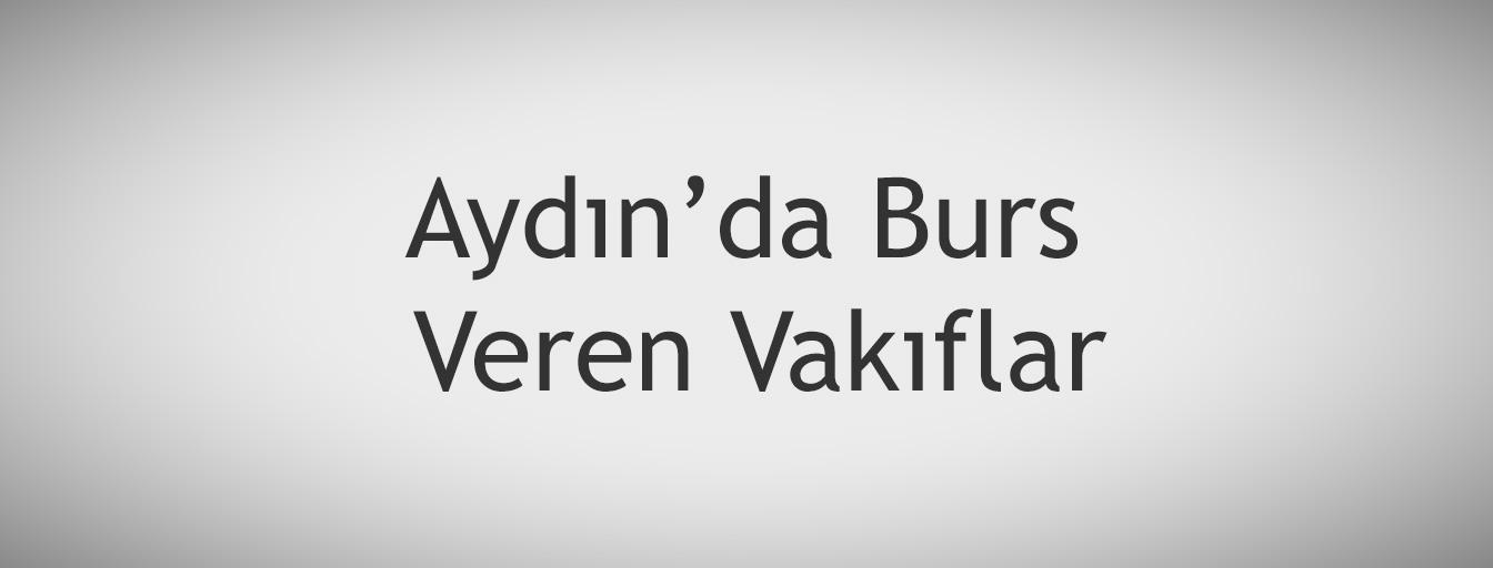 bursnerede.com - Aydın'da Burs Veren Vakıflar